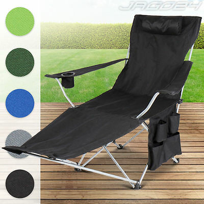 Camping Folding Chair Footrest Garden Hiking Fishing Stool Portable Cup Holder