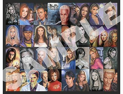buffy the vampire.high quality 16 x 20 laminated mounted on bourd.glossy finish.