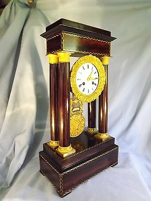 Large French Inlaid Coromandel Portico Clock • £490.00