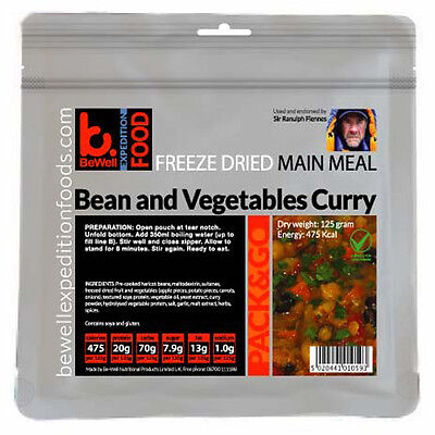 125g BeWell Expedition Food  Vegetarian 6 meal Pack