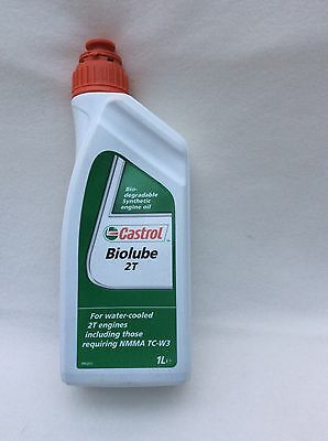Castrol Biolube 2T Fully Synthetic  2-Stroke oil scooter lawnmower chain saw