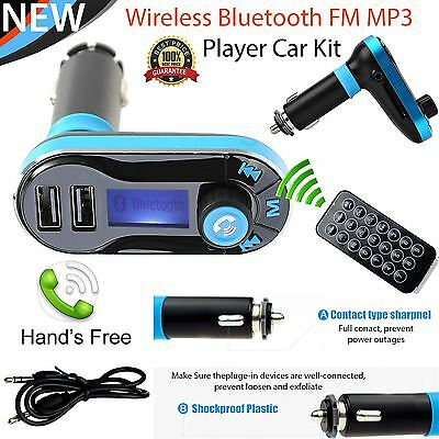 Bluetooth Car Kit MP3 Player FM Transmitter SD USB Charger For iPhone 7 Samsung