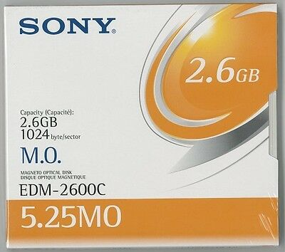 Sony Edm-2600Cww 2.6Gb R/w Optical Disks Edm2600C 5 Pack New