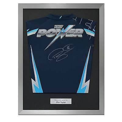 Phil The Power Taylor Signed Darts Shirt Autographed Sports Memorabilia Framed
