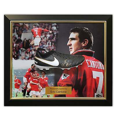Eric Cantona Signed Football Boot Soccer Shoe Autographed Cleat Framed