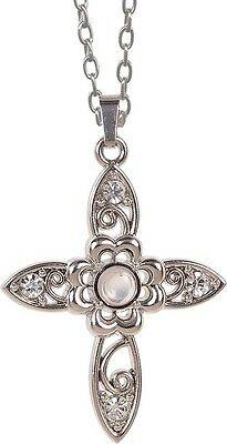 AngelStar Floral Cross Stanhope Magnifier Pendant
