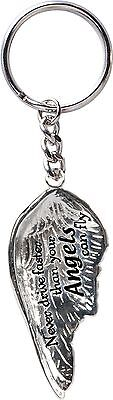 AngelStar Never Drive Faster Angel Wing Keyring