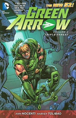 GREEN ARROW VOL #2 TPB TRIPLE THREAT Ann Nocenti DC Comics #7-13 THE NEW 52 TP