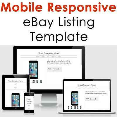 Template Ebay Listing 2018 Auction Design Responsive Professional