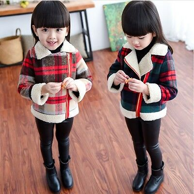 Kids Baby Bambine, Invernale In Lana Cappotto Giacca Lana D'agnello