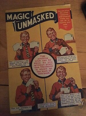 Magic Unmasked 1930s free gift with 'The Wizard' comic, excellent condition