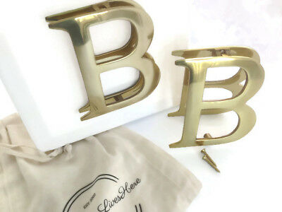 Solid Brass Door Knocker Polished Letter B 120mm (H) x 110mm (W)