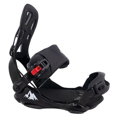 System 2017 LTX Men's Flow Style Rear Entry Step-In Snowboard Bindings Large