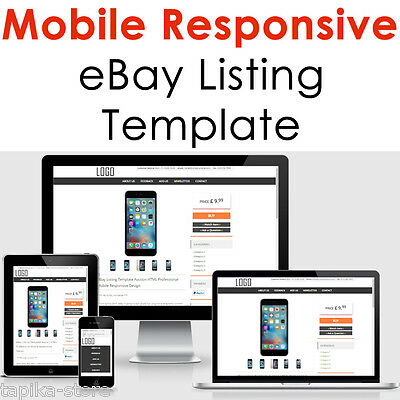 Mobile Responsive eBay Listing Template Auction 2017 Approved HTML Universal