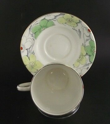 Bell Hand Decorated   Fine Bone China  England Floral  Tea Cup And Saucer