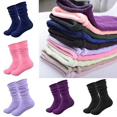 5 Pairs Winter Women Wool Cashmere Thick Warm Soft Solid Casual Sports Socks