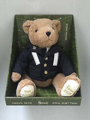 Harrods Annual Bear 2016 Basil Rubython - Only a handful were ever sold - Rare