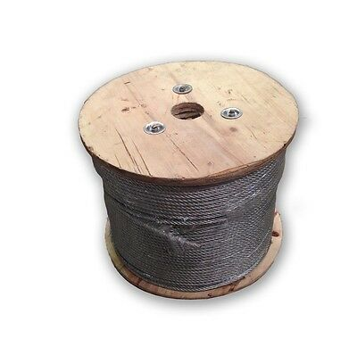 10mm Electro Galvanized Steel Wire Rope 6X19+FC 400 Metre Roll