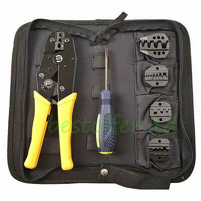 NEW RATCHETING TERMINAL CRIMPER TOOL - 5 dies - Wire Crimping Tools Terminals