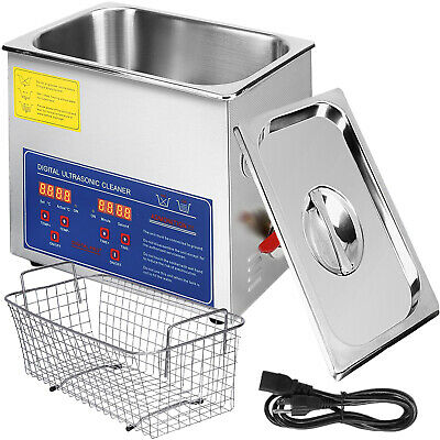 New Stainless Steel 6L Liter Industry Heated Ultrasonic Cleaner Heater Timer #