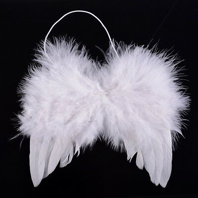Newborn Baby White Angel Wings Costume Christmas Photo Photography Prop Outfits