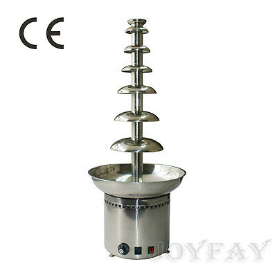 """Luxury 7 Tiers Stainless Steel Party Commercial Chocolate Fountain 41"""""""