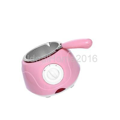 Electric Single Oven Party Chocolate Melting Pot Fondue Boiler Warmer Pink