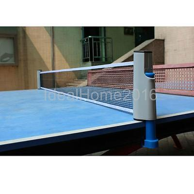 Portable Retractable Table Tennis Ping Pong Net Rack Kit Set Replacement