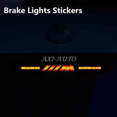 High position brake lamp sticker M power rear stop light decoration for BMW E46