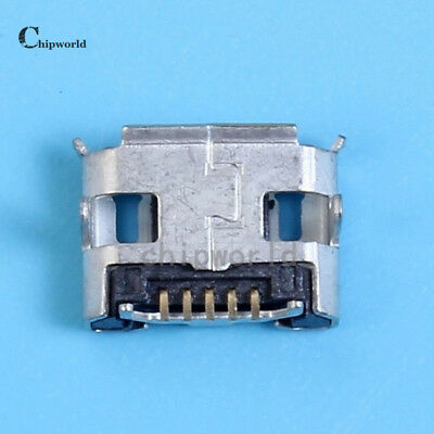 50pcs Female 4-Fixed Pin Micro USB Socket IC Components For Industrial Control