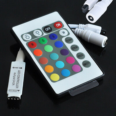 24 Key IR Remote Control Controller Box For RGB 3528 5050 LED Light Strip Lights