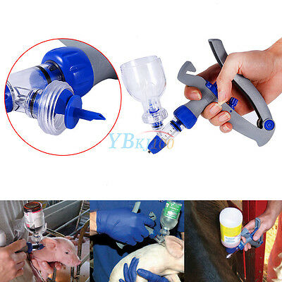 5ml Automatic Self Refill Injector Syringe Farm Livestock Cattle Chicken Sheep