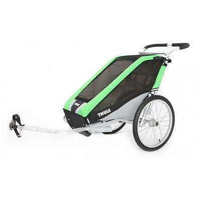 Thule Cheetah 1 Child Carrier Bicycle Trailer Green Black Silver Inc.Cycle Kit