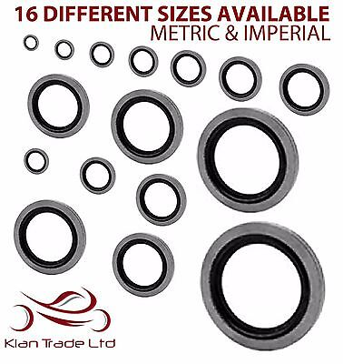 10Pc Bonded Seal / Dowty Washers - Bsp Metric Imperial Washer Self Centering