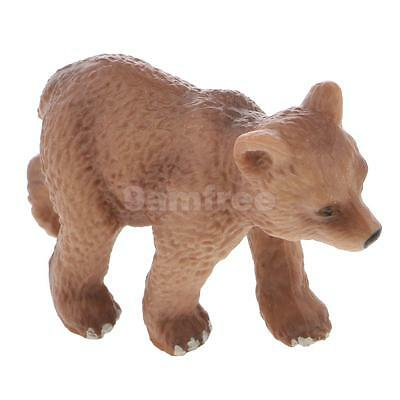 Realistic Little Brown Bear Wild Animal Model Figure Kids Toy Collectibles