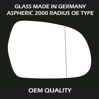 ,200 Audi A5 Wing Mirror Glass With Base,Heated Driver Side Silver Aspheric,RH