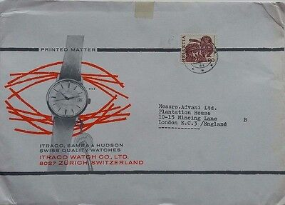 Switzerland Itraco Watch Company Illustrated Advertising Cover
