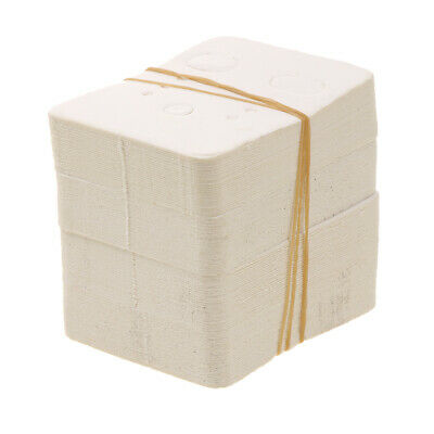 Bulk 100pcs White Paper Jewelry Earring Display  ing Cards Flocked