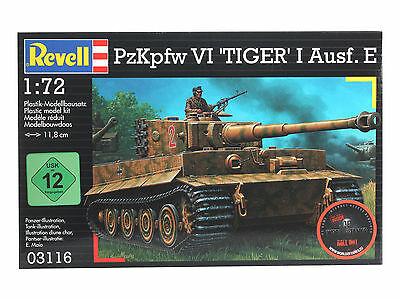Revell PzKpfw VI Tiger I Ausf.E 03116 Maßstab 1:72 Wehrmacht Panzer