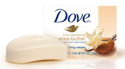 16 x DOVE SHEA BUTTER WITH VANILLA SCENT BEAUTY BARS SOAPS BATH SHOWER