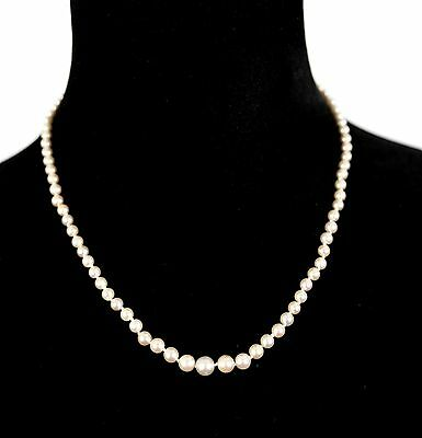 1920s Antique 10K Gold 4mm Pearl Necklace