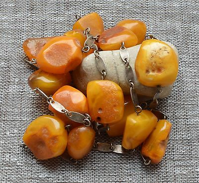 58.5 gr Genuine Natural Baltic Amber Round Beads Necklace Egg Yolk Butterscotch