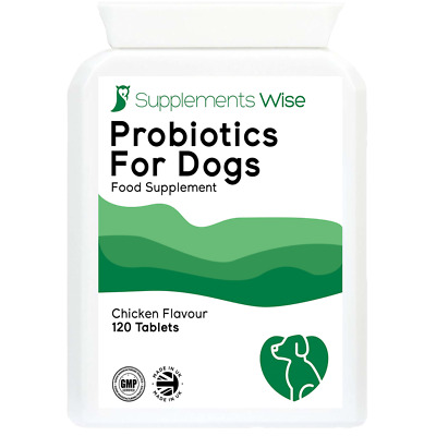 Probiotic Support For Dogs 120 Tablets Chicken Flavour With Digestive Enzymes
