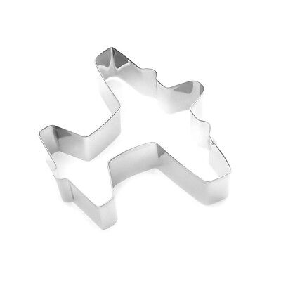 "Fox Run 3"" Airplane Shaped Tinplated Steel Cookie Cutter, Biscuit & Jello Mold"