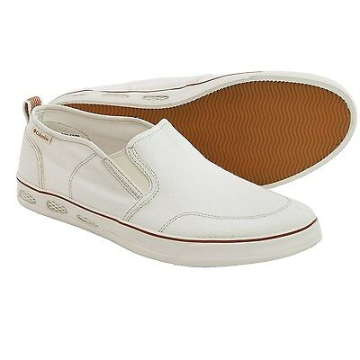 """New Mens Columbia """"Vulc N Vent"""" Slip-On Canvas Vented Techlite Water Boat Shoes"""