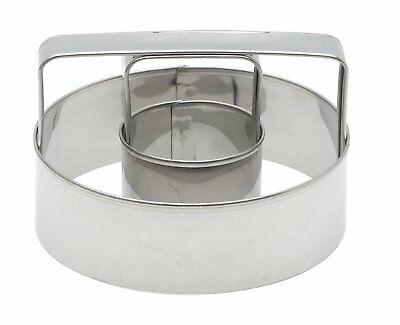 "Harold Mrs. Anderson's Baking 3"" Stainless Steel Donut Cutter - Dishwasher Safe"