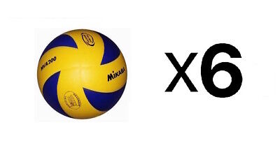 Mikasa FIVB Volleyball Official 2012 Olympic Game Ball Dimpled Surface (6-Pack)