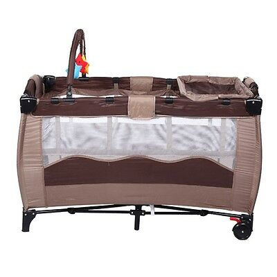 Hot Baby Crib Bedding Safety Newborn Playing Bassinet Double Layer Infant Cradle