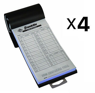 Franklin Sports MLB Baseball Softball Roster Lineup Cards 20 Games (4-Pack)