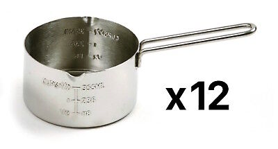 Norpro Stainless Steel Measuring Melting Cup Dual Pour Spout 2-Cup (12-Pack)